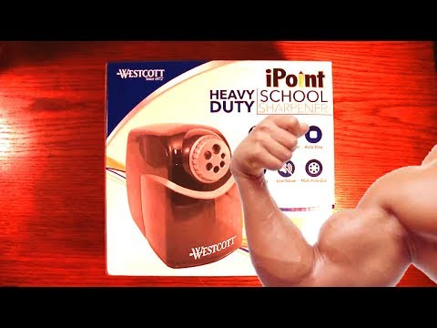 Best Electric Pencil Sharpener Ever! - Westcott IPoint School Sharpener Review   Rixcandoit