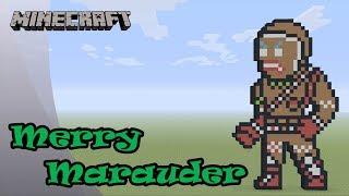 Minecraft: Pixel Art Tutorial: Merry Marauder (Fortnite Battle Royale)