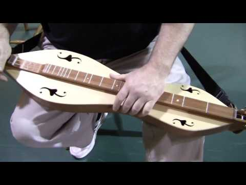 Folkcraft Instruments mountain dulcimer demonstration, serial number 8092963