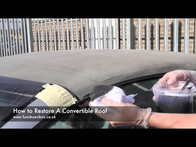 How To Restore A Convertible Roof Youtube