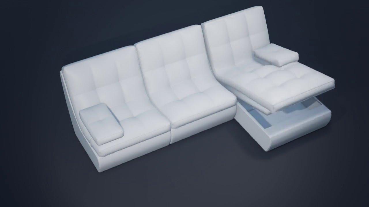 Серый угловой диван в интерьере на заказ - YouTube