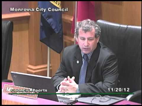 Monrovia City Council | November 20, 2012 | Regular Meeting