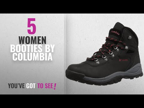 Top 10 Columbia Women Booties [2018]: Columbia Women's Newton Ridge Plus Hiking Boot, Black, Poppy