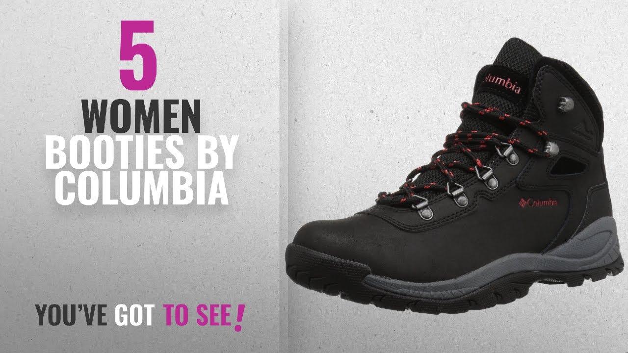 2d88be9ab0c Top 10 Columbia Women Booties [2018]: Columbia Women's Newton Ridge Plus  Hiking Boot, Black, Poppy