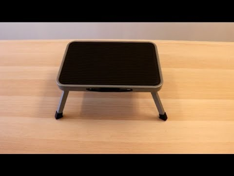Ollieroo Folding Steel Step Stool With Non Slip Rubber