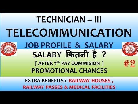 Railway Technician Telecommunication Job Profile || Salary || Promotion Chances