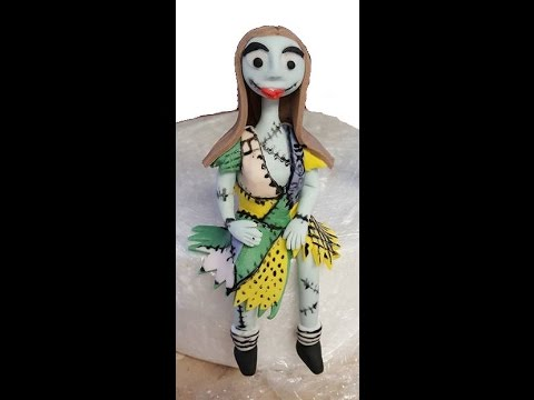 Making sally stitch from nightmare before Christmas cake topper