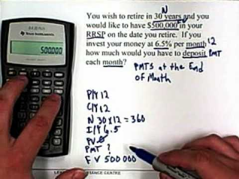 12. BA II Plus Calculator: Compound Interest: Making Payments in Begin & End Mode