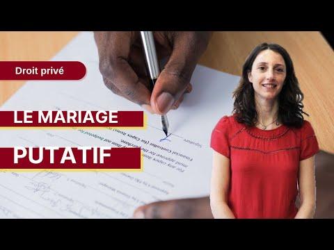 Droit Privé : Le Mariage Putatif