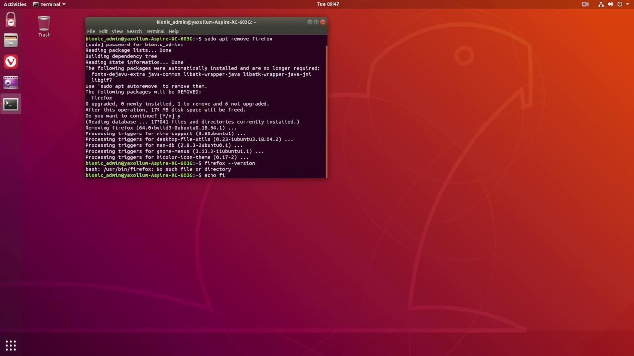 How to Uninstall Firefox on Ubuntu 18 04