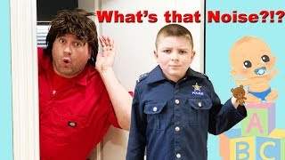 Welcome Baby   Sketchy and the mystery noise pretend play funny kids video