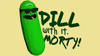 Rick and Morty - Pickle Rick 3D Speed Art Process (T-shirt Design Competition)