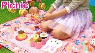 メルちゃん おべんとうセット ピクニック おやつプリンも / Mell-chan Doll Picnic Lunch : Bento Lunch Box