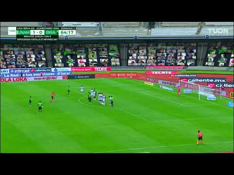 Gol de M. Olivera   Pumas 1 - 1 Juárez   Liga MX - Guardianes 2020 - Jornada 3   LIGA BBVA MX