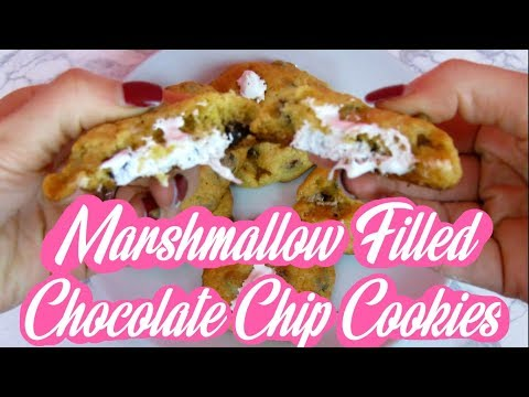 HOW TO MAKE MARSHMALLOW FILLED CHOCOLATE CHIP COOKIES