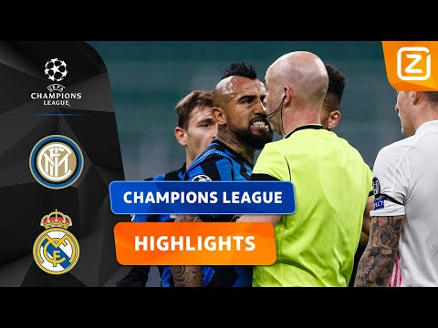 VIDAL VERLIEST DE ZELFCONTROLE! 😠   Inter Vs Real Madrid   Champions League 2020/21   Samenvatting