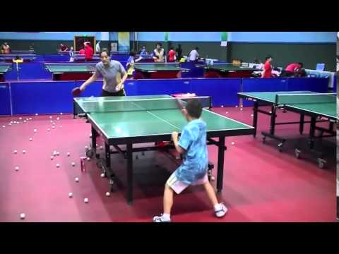Table Tennis Training's Kids of China  HD