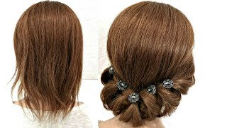 Прическа на Короткие волосы Просто сделать СЕБЕ Hairstyle for Short Hair Just Make Yourself