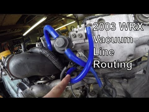 2003 Wrx Vacuum Line Routing Puzzle Youtube