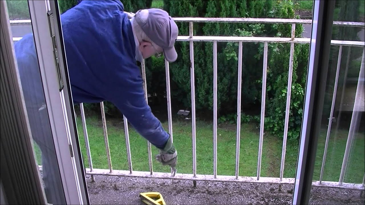 removing rust and painting julliets metal balcony youtube. Black Bedroom Furniture Sets. Home Design Ideas
