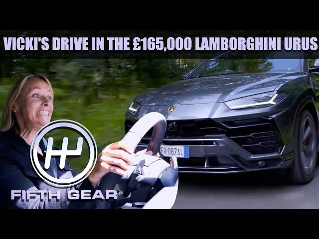 Vicki's Drive in the £165,000 Lamborghini Urus   Fifth Gear