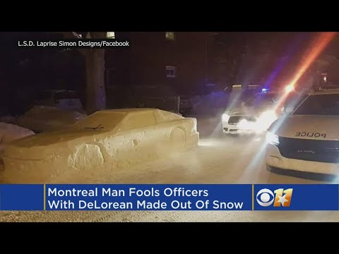 Man Fools Cops With Car Made Of Snow, Gets Fake Parking Ticket
