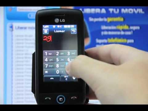 Como liberar LG GW520 por código en www.movical.net
