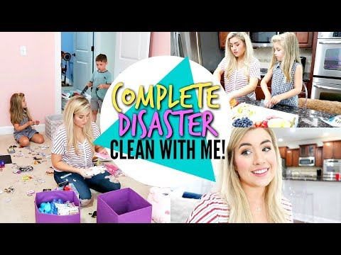 Complete Disaster! MESSY HOUSE CLEAN WITH ME 2019 | ULTIMATE CLEANING MOTIVATION