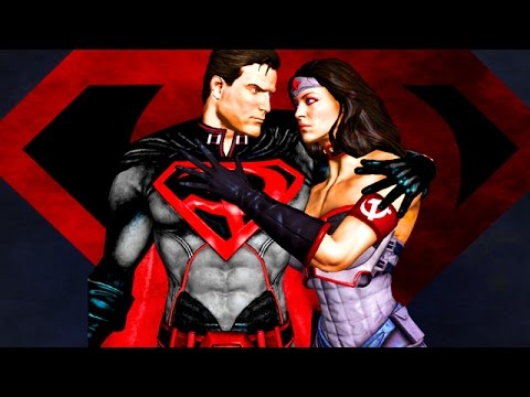 Injustice: RED SON SUPERMAN & WONDER WOMAN ACTION - Injustice Superman & Wonder Woman Gameplay