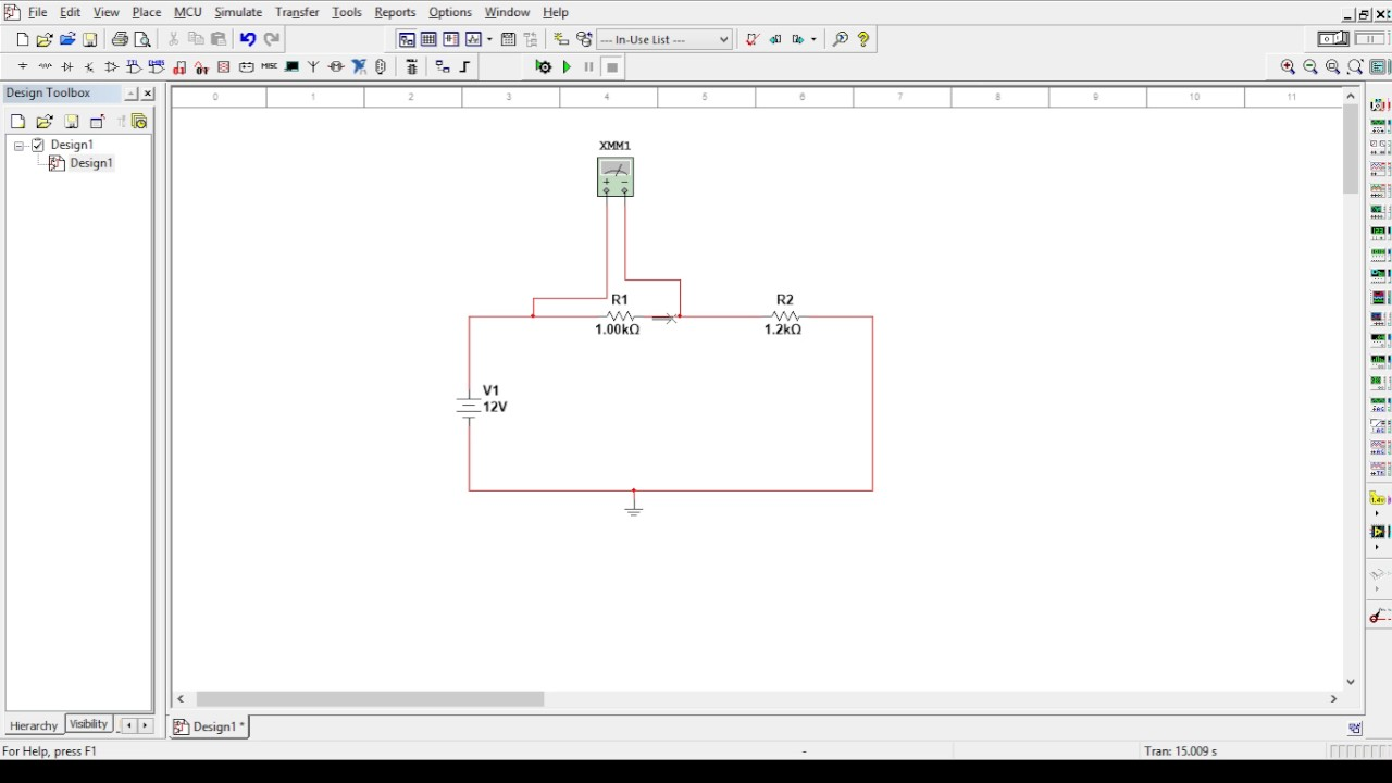 First Multisim Tutorial Simple Mesh With Multimeter Youtube Logic Probe Circuit Diagram