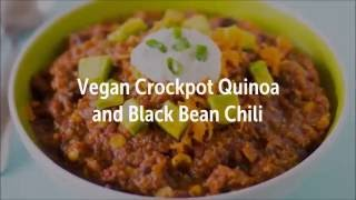 Vegan Crockpot Quinoa and Black Bean Chili