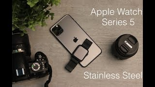 Apple Watch 5 Series -Stainless Steel | فتح صندوق ومعاينة