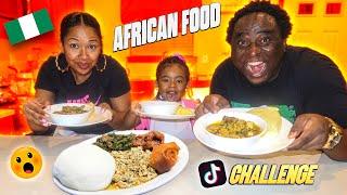 FUFU CHALLENGE   FUFU EGUSI STEW   FT MY DAUGHTER   Tiktok AFRICAN FOOD mukbang   The Winning Fam