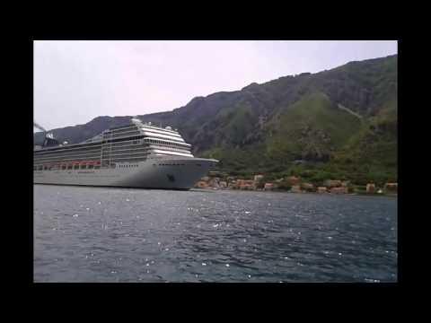 MSC Musica Cruise Ship in Kotor Bay
