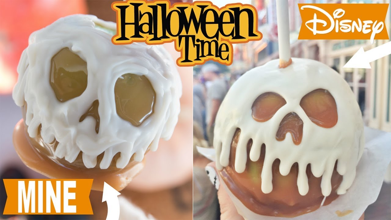 How To Make Disneyland Inspired Poison Skull Caramel Apples Disneyland Copycat Recipe Youtube