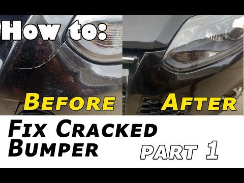 How to Fix Cracked Bumper With Epoxy - Part 1