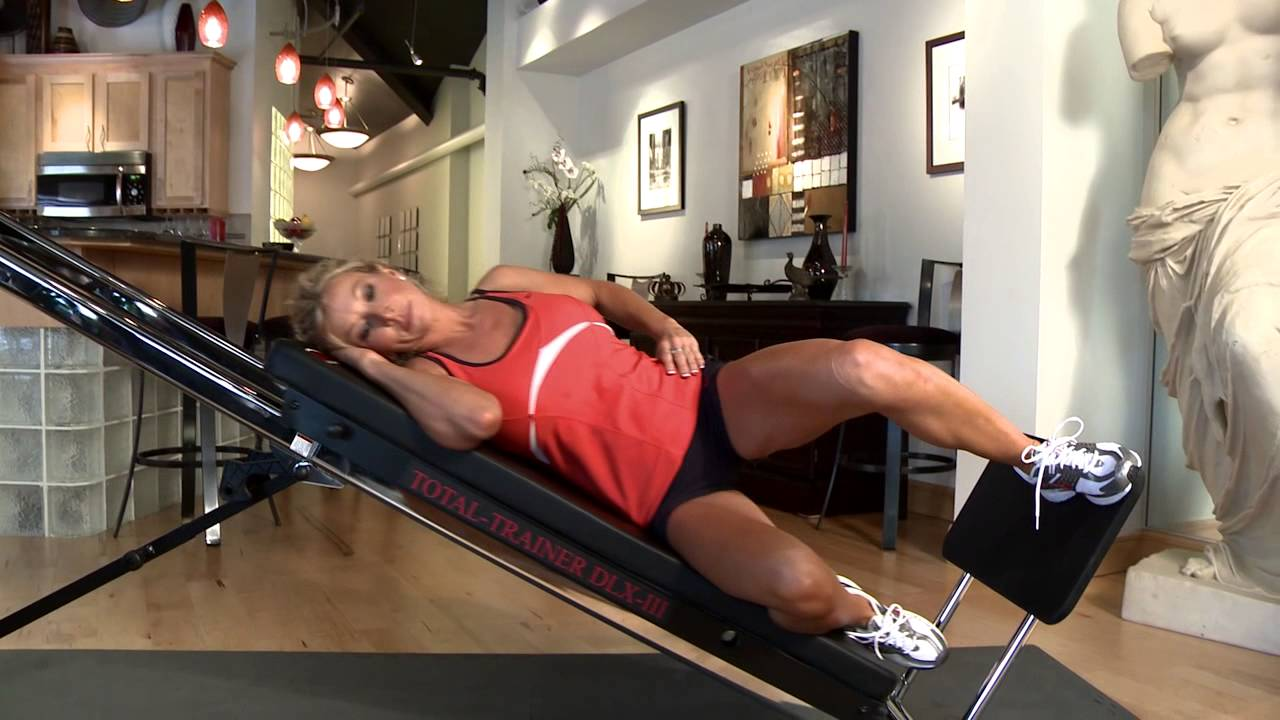 Single leg press on the total trainer home gym youtube