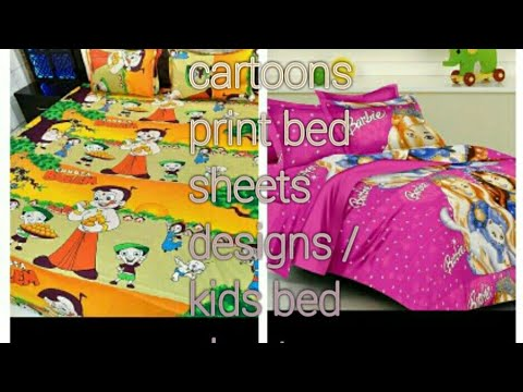 Kids Bed Sheets Designs /cartoon Character Print Bed Sheets Designs