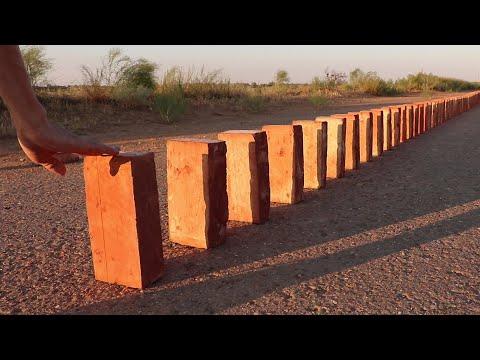 50 Bricks Double Domino Effect