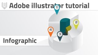 Advanced 3d infographics in Adobe illustrator. Convert pie graph into 3d shape