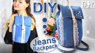 DIY Jeans Backpack Tutorial | Fashion MUST HAVE | Denim BackPack