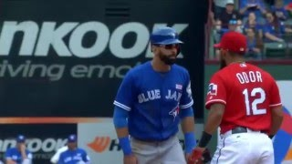 TOR@TEX: FULL Brawl between Rangers and Blue Jays