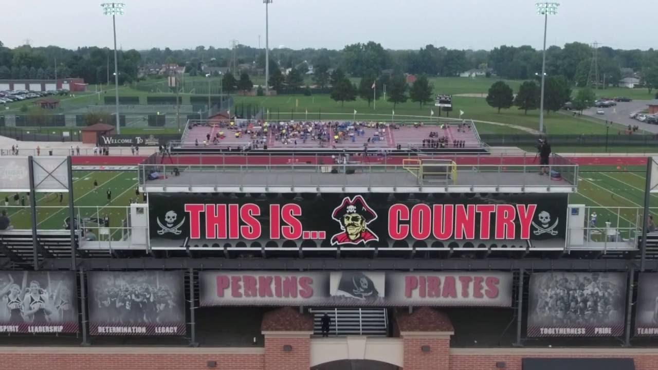 Aerial Of Perkins Firelands Regional Medical Center Stadium Youtube