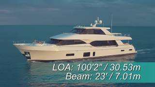 Ocean Alexander 100 Skylounge (2018-) Test Video - By BoatTEST.com