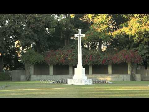 Graveyard of brave soldiers R.H Bewan, H.C Hutchings, W. Fleury