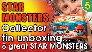 star monsters pocket friends collector tin unboxing 8 star monsters fusion edition star monster uk