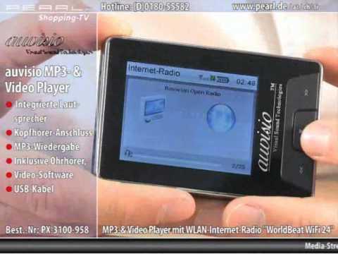 auvisio mp3 video player mit wlan internet radio