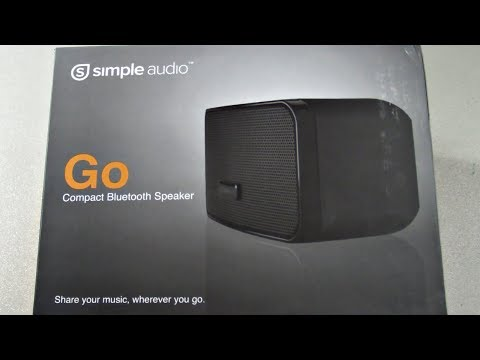 Simple Audio Go™ Portle Mini Bluetooth Speaker Unboxing & Review