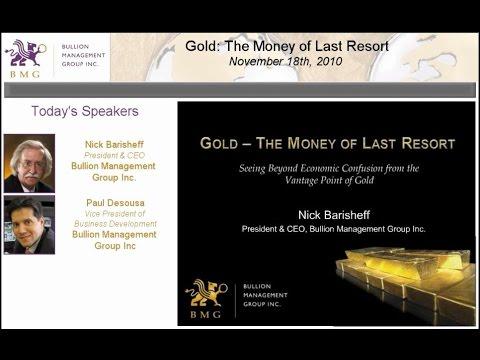 Gold The Money of Last Resort