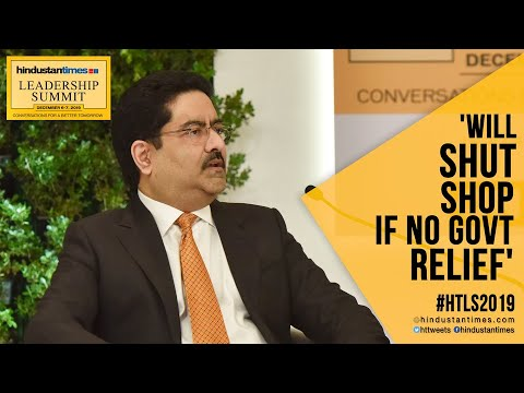 'Vodafone Idea will shut shop if no relief from govt': KM Birla at #HTLS2019